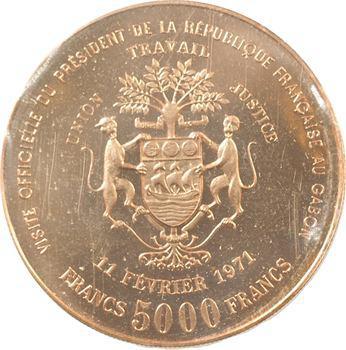 Gabon (République du), essai de 5000 francs, 1971