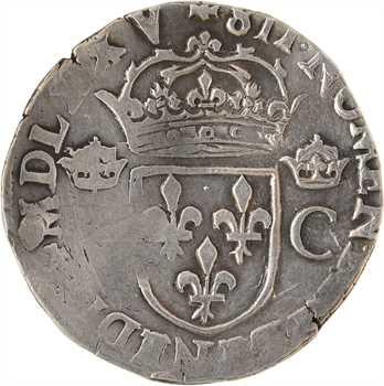 Charles IX, teston 10e type, 1575 Nantes