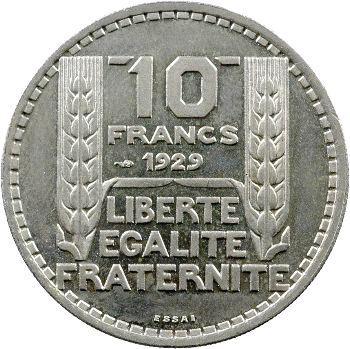 IIIe République, essai de 10 francs Turin hybride, grand module, 1929/1939 Paris