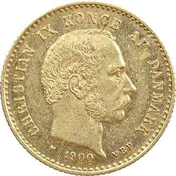 Danemark, Christian IX, 10 Kroner ou couronnes, 1900 Copenhague