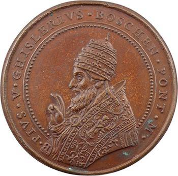 Vatican, Pie V, la flotte turque vaincue à Lépante, par Paladino, s.d. (1571 postérieure)