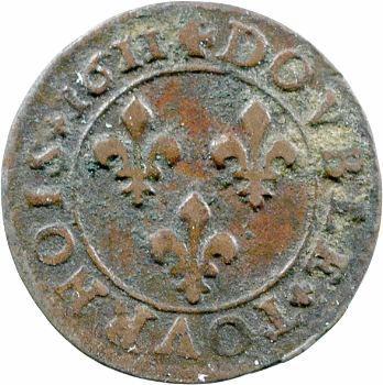 Louis XIII, double tournois, 1611 Lyon