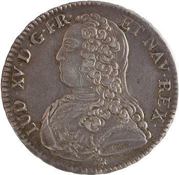 Louis XV, demi-écu aux rameaux d'olivier, 1726 La Rochelle