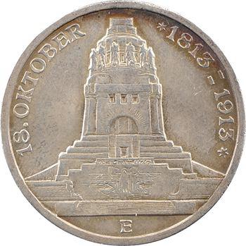 Allemagne, Saxe (royaume de), Frédéric-Auguste III, 3 mark, 1913 Dresde