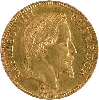 Second Empire, 100 francs tête laurée, 1869 Strasbourg