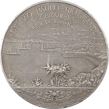Brésil, achèvement du chemin de fer de 2500 km de São Paulo à Rio Grande, 1906 Paris