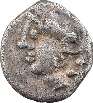 Éduens, denier à l'effigie stylisée, c.Ier s. av. J.-C.