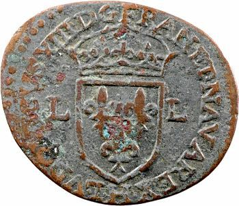 Louis XIII, douzain illégal, 1628 La Rochelle