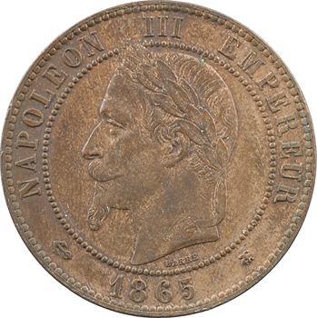 Second Empire, dix centimes tête laurée, 1865 Paris