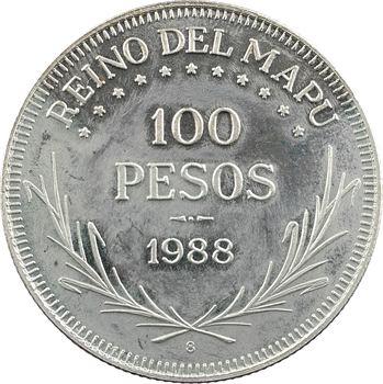 Araucanie, Prince Philippe, 100 pesos, 1988