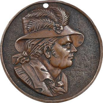 Guerres de Vendée, le général Charette, médaille (date postérieure 1837)