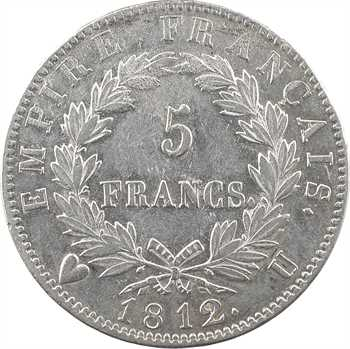 Premier Empire, 5 francs Empire, 1812/1 Turin