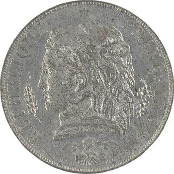 IIe République, concours de 10 centimes par Tournier, en étain, 1848 Paris
