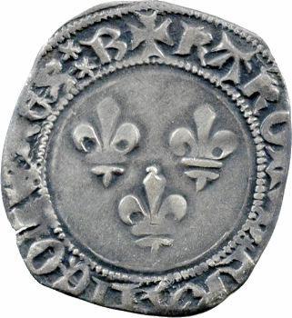 Charles VII, petit blanc aux trois lis 1re émission, Bourges