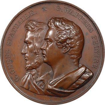 Belgique, Léopold Ier, hommage aux artistes Geefs et Wappers, par Jouvenel, 1835 Bruxelles