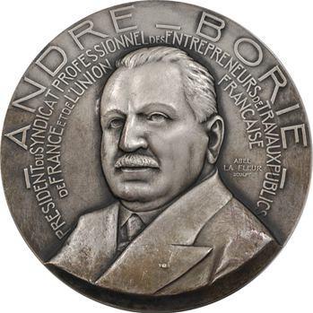 France et Union française, André Borie, président des entrepreneurs de travaux publics, par La Fleur, 1950 Paris