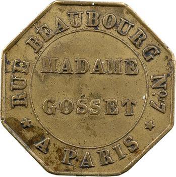 Louis-Philippe Ier, jeton maçonnique (?), Mme Gosset à Paris, 1838