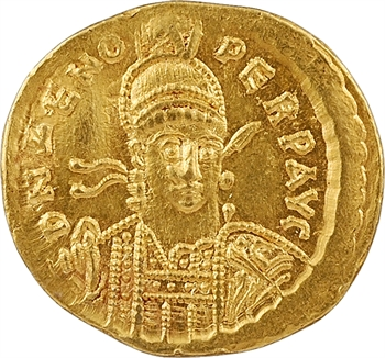 Zénon, solidus, Constantinople, 6e officine, 476-491