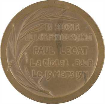 IIIe République, lancement du paquebot Paul Lecat, 1911 Paris