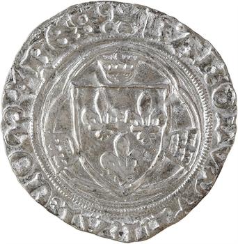 Charles VIII, blanc à la couronne, couronnelles renversées, Rouen