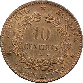 IIIe République, 10 centimes Cérès, 1872 Paris