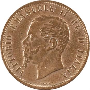 Italie, Victor-Emmanuel II, 10 centesimi, 1866 Milan