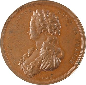 Marie-Antoinette, mort de la Reine, en bronze, par Loos, s.d. (c.1793) Berlin