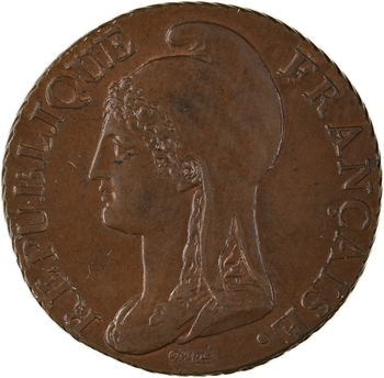 Directoire, 5 centimes petit module, An 4 Paris