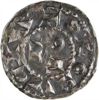 Toulouse (évêché de), Guillaume III Taillefer et l'évêque Hugues, denier, s.d. (c.950-972) Toulouse