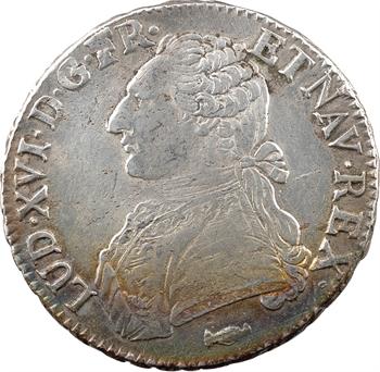 Louis XVI, écu aux branches d'olivier, 1777 Bordeaux