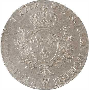 Louis XVI, écu aux rameaux d'olivier, 1783 Lille