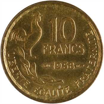 IVe République, 10 francs Guiraud, 1958 Paris