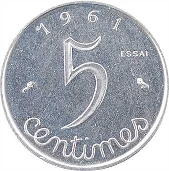 Ve République, essai de 5 centimes épi, 1961 Paris