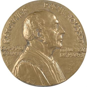Bouchard (H.) : hommage du Barreau de Paris à Raoul Rousset, fonte, 1927 Paris