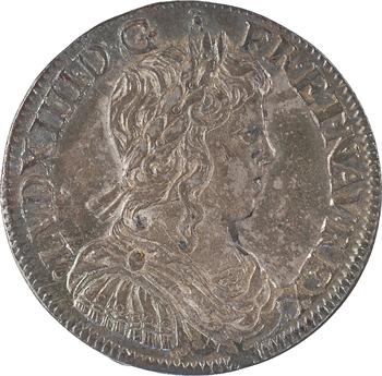 Louis XIV, demi-écu à la mèche longue, 1653 Tours