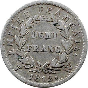 Premier Empire, demi-franc Empire, 1812 Lille