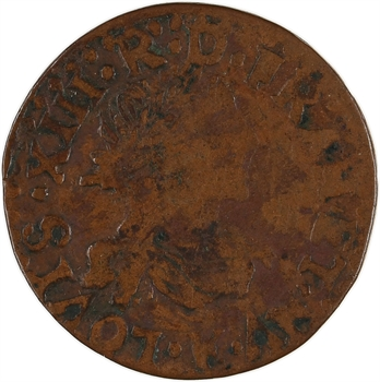 Louis XIII, double tournois 14e type, 1640 Bordeaux