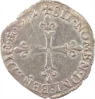 Charles IX, douzain à la croix fleurdelisée, 1572 Troyes