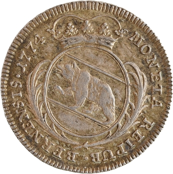Suisse, Berne (canton de), quart de thaler, 1774 Berne