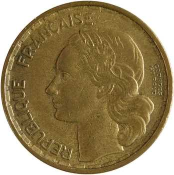 IVe République, 20 francs Georges Guiraud, 4 faucilles, 1950 Beaumont-le-Roger