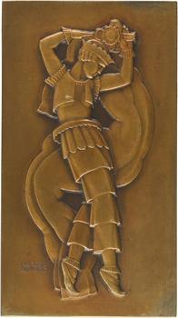 Renard (M.) : Danseur et Danseuse (folie), la paire, s.d. (1943) Paris