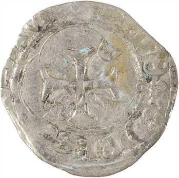 Charles VII, petit blanc à la couronne, 3e émission, Tours
