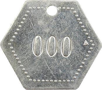 Indochine, Tonkin, Hanoï, plaque de taxe n° 000, 1936