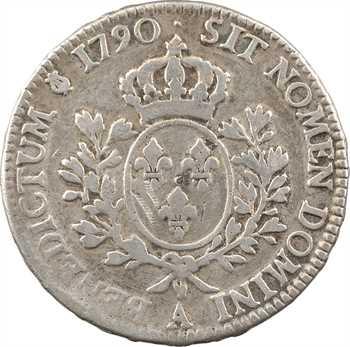 Louis XVI, écu aux branches d'olivier, 1790, 2d semestre, Paris FAUX D'ÉPOQUE ?