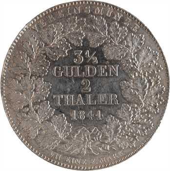 Allemagne, Francfort (ville de), 2 thaler (3 gulden 1/2), 1841 Francfort
