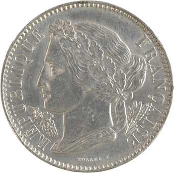 IIe République, concours de 10 centimes par Borrel, en étain, 1848 Paris