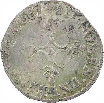 Charles IX, sol parisis 1er type, (décembre) 1567 Troyes (Lespeuvrier)
