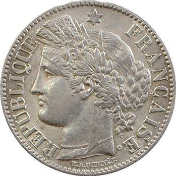 IIIe République, 2 francs Cérès, petit A, 1871 Paris