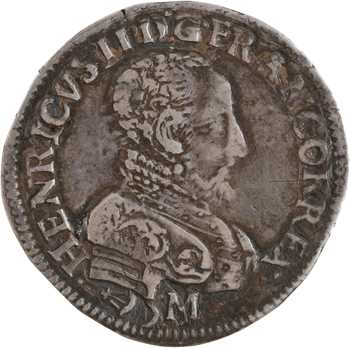 Henri II, teston à la tête nue 3e type, 1559 Bordeaux variété RENAT