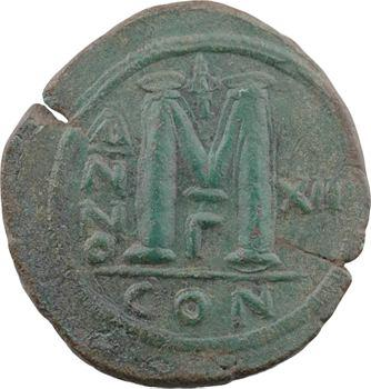 Justinien Ier, follis, Constantinople, 3e officine, An XII = 538-539